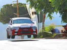 Evo 8 rally jump