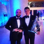 with Max Verstappen at the 2019 FIA prize giving Ceremony at the Louvre in Paris